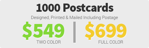 6x9 Postcard Pricing Targeted