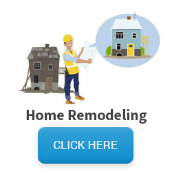 Image of man showing house remodel