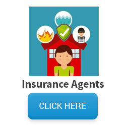 Image of woman with icons for differnt types of insurance