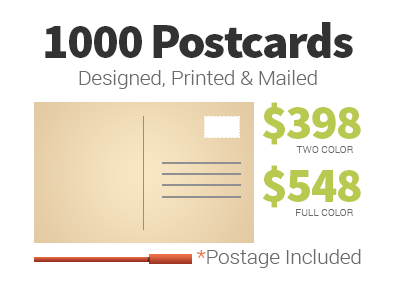 Full Service Postcard Mailing - Prices starting at $398