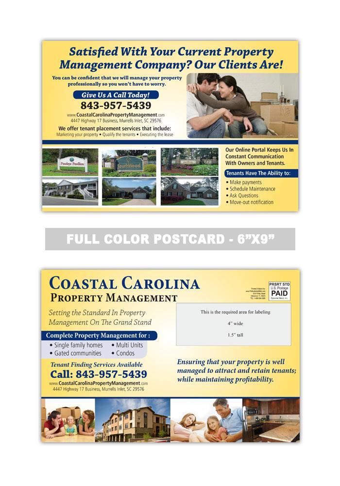 property management postcard samples
