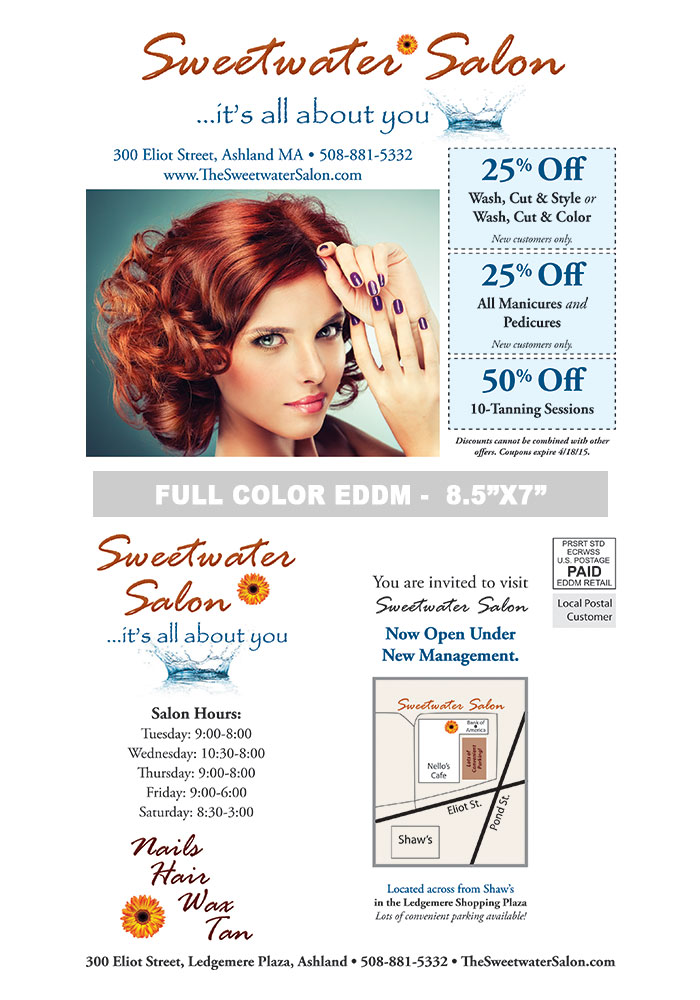 Hair Salon Postcard Samples Print Label And Mail