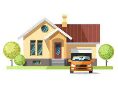 Image of home illustrate postcard marketing for mortgage brokers.