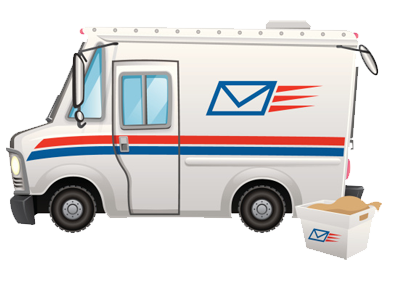 picture of post office mail truck
