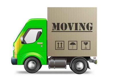 cartoon image of a moving truck to illustrate page title national change of address