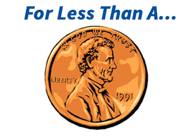 image of a penny to illustrate the low cost of national change of address updating service