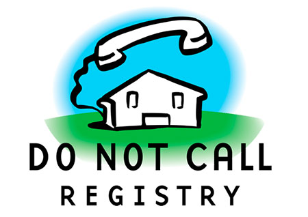 icon of a phone connected to a house with the words do not call registry to illustrate page title mailing list with phone numbers