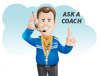 custom mailing list creation - coach with headset with headline ask a coach