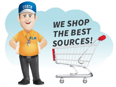 What is a mailing list broker - coach next to shopping cart with headline we shop the best sources