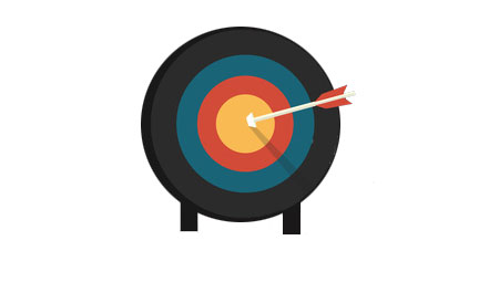 image of target with arrow in the bulls eye illustrating that our mailing coaches create targeted mailing lists for our customers