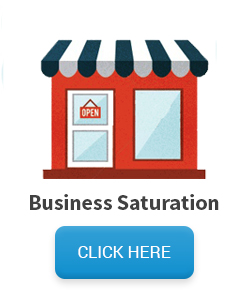 Saturated business mailing list - cartoon storefront with open sign