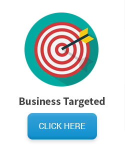 Targeted business mailing list target with arrow in bulleye