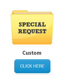 "Custom mailing list - file folder with text ""Special Request"""