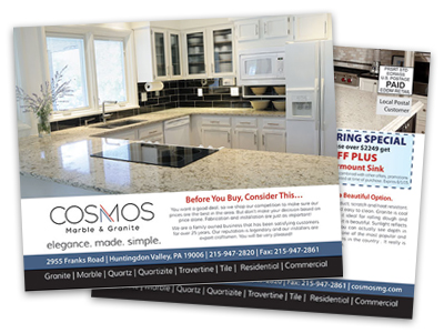 postcard sample of home remodeling service