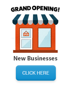 new business mailing list - storefront with grand opening sign