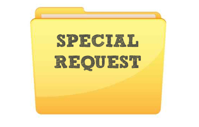 cartoon image of file folder with the words special request to illustrate the page title custom mailing list which has a form that can be submitted to request a custom mailing list quote