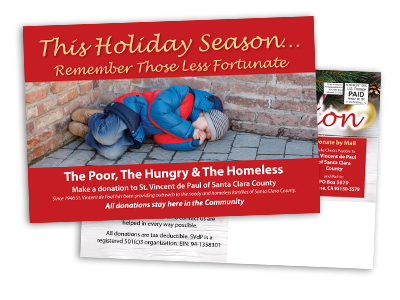 postcard sample of non profit charity