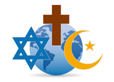 christian cross, jewish star and muslim moon and star icons used to illustrate the page title religion mailing list which includes mailing list prices, list selection criteria, list delivery options and more