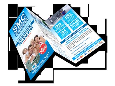 Sample of a custom brochure designed and printed