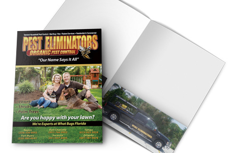 Sample of custom folder designed and printed.