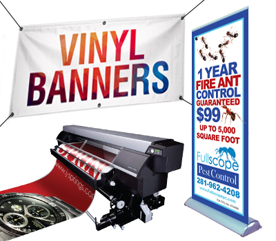 Sample of a custom banner designed and printed.