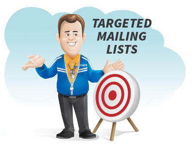 How to plan a targeted mailing - coach standing next to a target