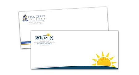 Sample of a custom envelope designed and printed.