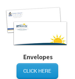 Sample of an envelope, followed by a click here button that links to the envelope pricing and information page.