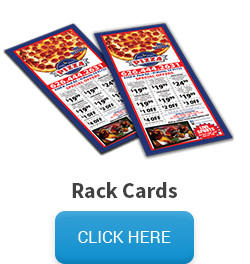 Sample of rack cards, followed by a click here button that links to the rack card pricing and information page.