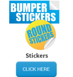 Sample of stickers, followed by a click here button that links to the sticker pricing and information page.