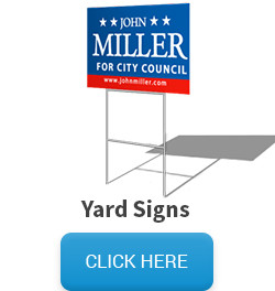 Sample of a yard sign, followed by a click here button that links to the pricing and information.