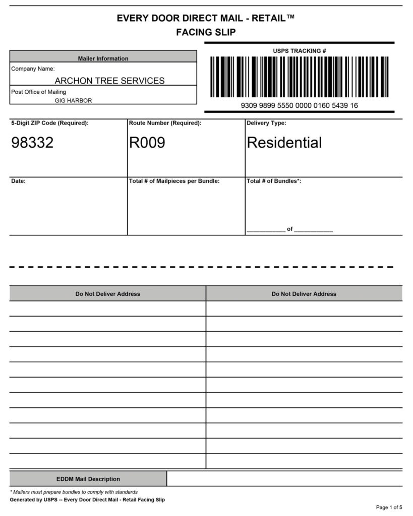 Every Door Direct Mail Documents Examples