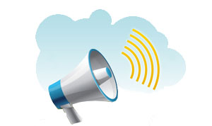 Image of a megaphone to illustrate the call to action