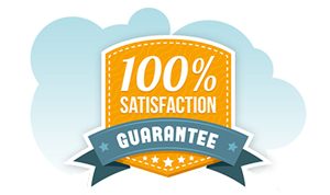 Image used to illustrate the 100% satisfaction guarantee from a design