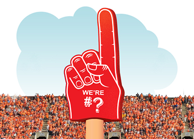Image of fan #1 foam finger that says we're number ?