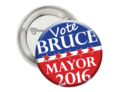 Image of button for political campaign
