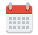 calendar representing how frequently mailing lists are updated