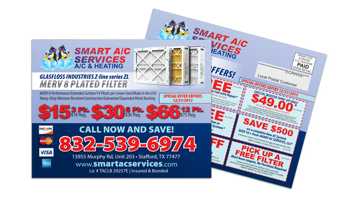 Air Conditioning Service EDDM Postcard Sample