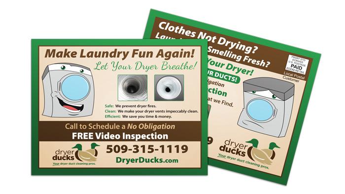 Dryer Duct Cleaning EDDM Postcard Sample
