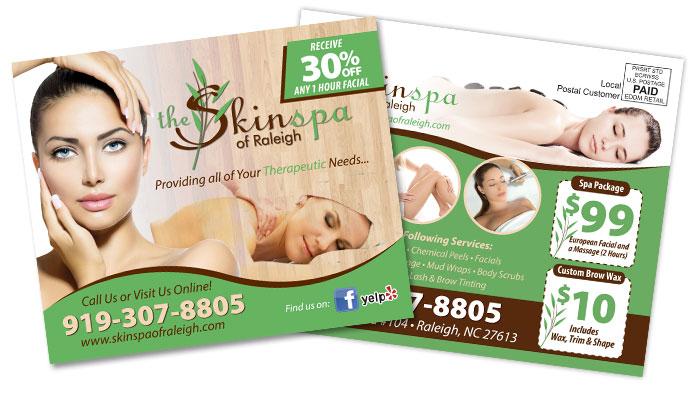 Skin Spa EDDM Postcard Sample