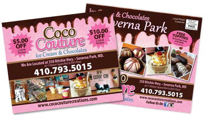 Ice Cream EDDM Postcard Sample