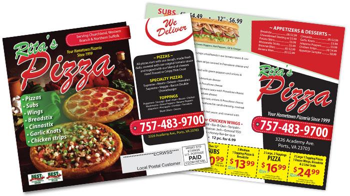 Pizza Restaurant EDDM Postcard Sample
