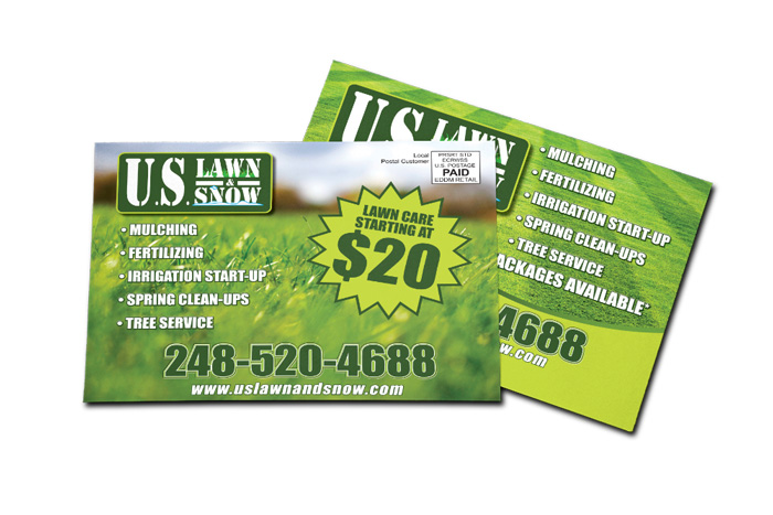 Lawn Service EDDM Postcard Sample