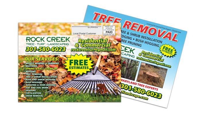 Landscaping Service EDDM Postcard Sample