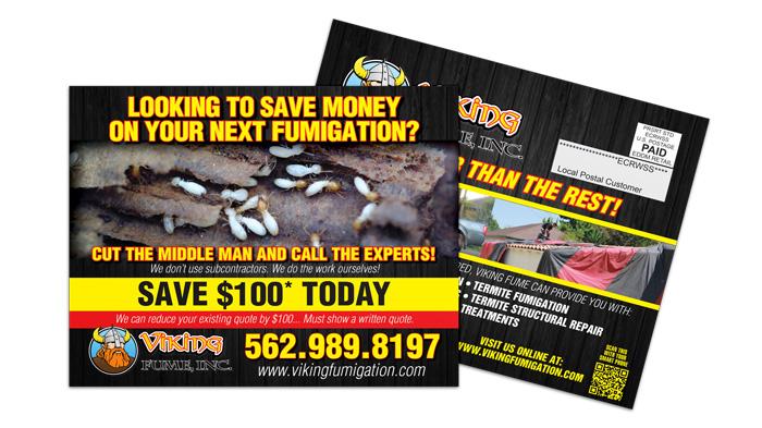 Pest Control EDDM Postcard Sample