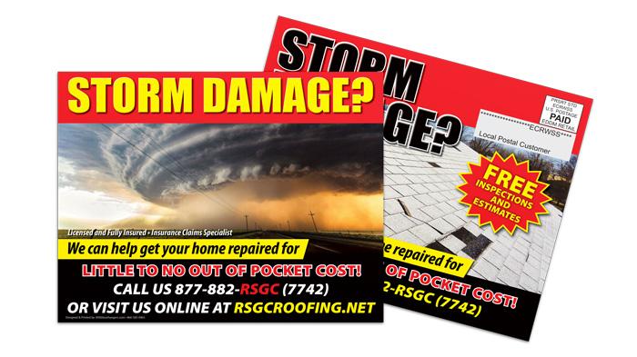 Roofing Company EDDM Postcard Sample