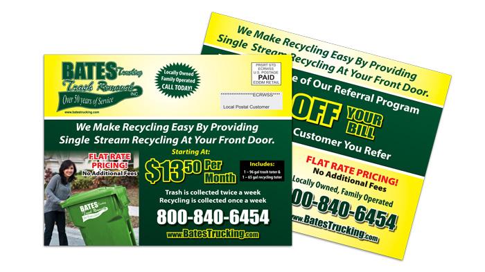 Trash Removal EDDM Postcard Sample