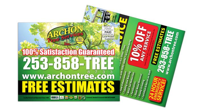 Tree Service EDDM Postcard Sample