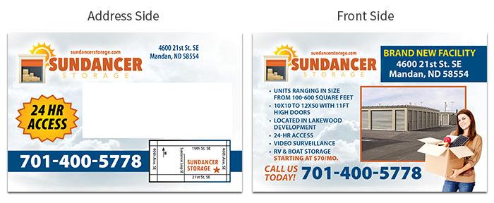 storage postcards