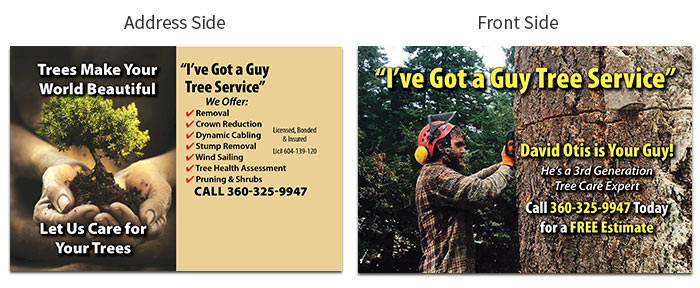 tree service postcard